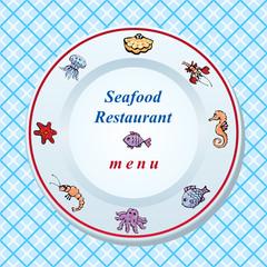 The seafood restaurant menu design