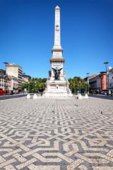 Praca dos Restauradores mit Obelisk, Lissabon, Portugal