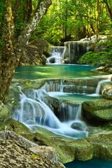 Printed roller blinds Waterfalls Erawan Waterfall in Kanchanaburi, Thailand