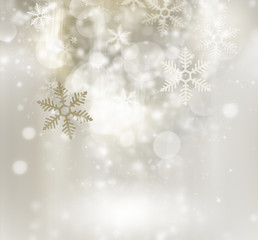 Abstract golden winter background