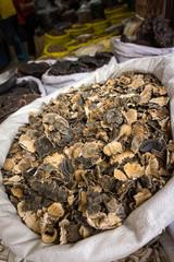 champignons chinois sur le marché