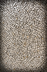 Rocks grey abstract wall background with vignette