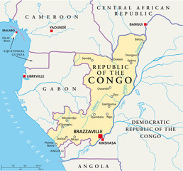 Republic of the Congo map (Republik Kongo Landkarte)