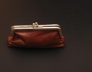 Empty vintage purse