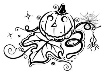 Halloween, Sankt Martin, Kürbis, Herbst, Laub