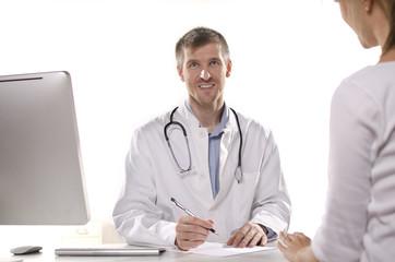 Fototapeta lekarz udzielający porady