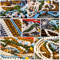 Collage - Jewelry, necklaces, pearls