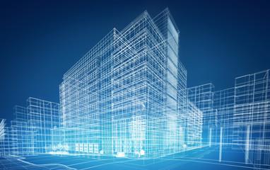 wireframe buildings