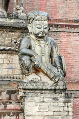 Ancient statue in the Bhaktapur, Nepal