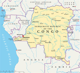 Democratic Republic of the Congo - map