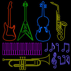 Neon Music Signs
