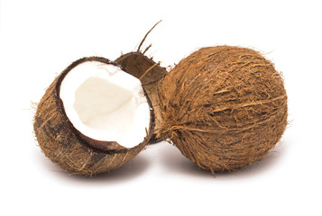 Whole coconut and a half