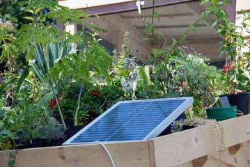 Solar panel on the balcony