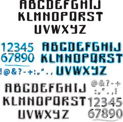 Алфавит синий и акварельный