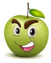 happy apple smiley
