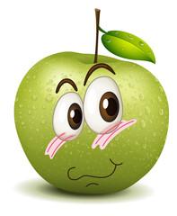 surprised apple smiley
