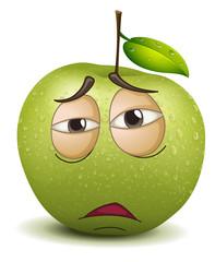 sad apple smiley