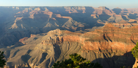 panoramica al tramonto sul Grand Canyon National Park