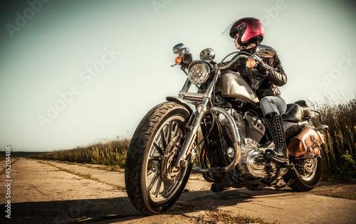 Fototapete Biker girl