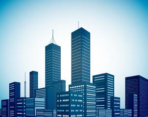 Modern city landscape background