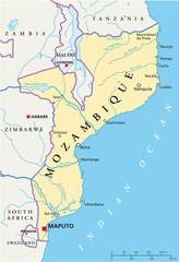 Mozambique map (Mosambik Landkarte)