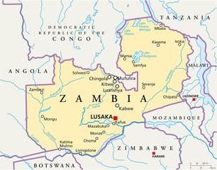 Zambia map (Sambia Landkarte)