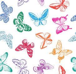 background with butterflies