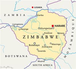 Zimbabwe map (Simbabwe Landkarte)