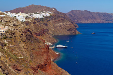 Oia town on the cliff of Santorini island, Greece