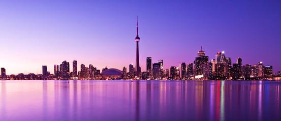 Wall Murals Toronto Scene of Toronto skyline from Central Island