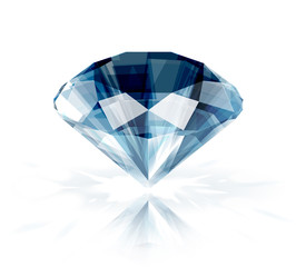Diamond isolated on white - vector illustration