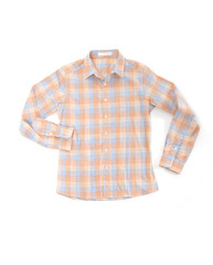 Man's cotton plaid shirt