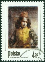 stamp shows Florentine Page, by Aleksander Gierymski