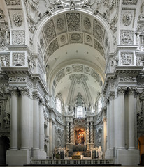 Interior of the Theatine Church in Munich, Germany