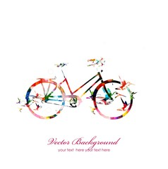 abstract vector bicycle