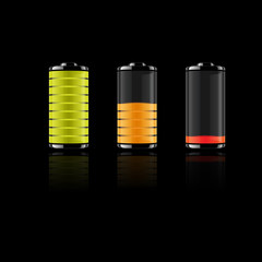 Battery set-vector