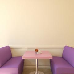 Coffee house interior.