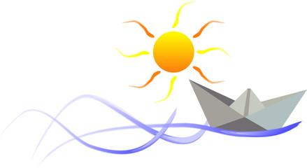 Illustration of a paper boat