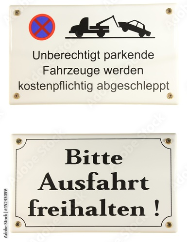 schild einfahrt freihalten parken stockfotos und. Black Bedroom Furniture Sets. Home Design Ideas