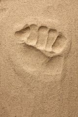 The imprint of man's hand