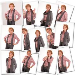 Senior woman shooting collection