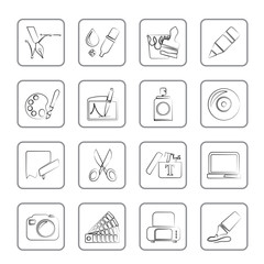 Graphic and web design icons - vector icon set