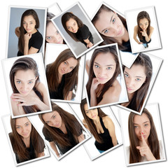 Young woman collage