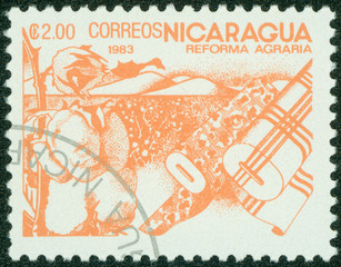 stamps printed in Nicaragua, is dedicated to agrarian reform