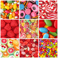 Printed roller blinds Candy Sweets