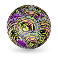 Sphere Ball CMYK