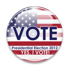 USA Vote Button 2012