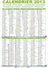 Calendrier 2013 - Editable