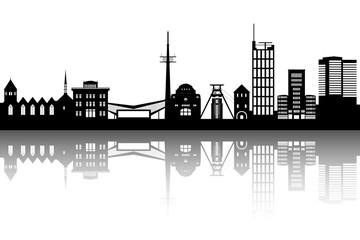 Essen Skyline abstrakt
