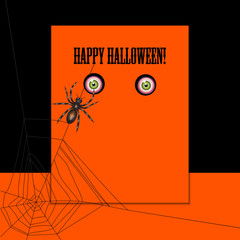 Halloween with spider and eyes